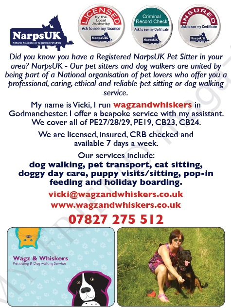 Wagz and Whiskers Godmanchester - Vicki Densley